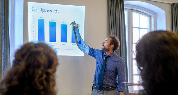 David Johnson presenterar sin forskning